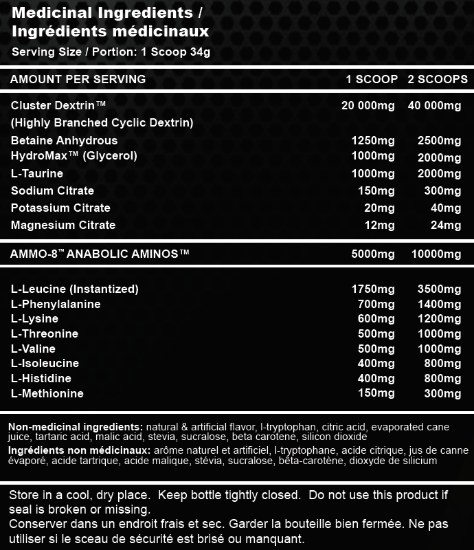 Battle Juice Nutrition Facts