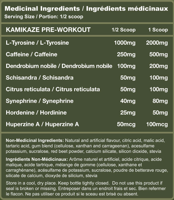 Kamikaze gummy worm nutrition facts